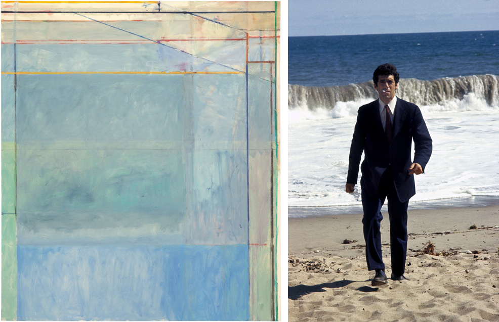 Left: Richard Diebenkorn, 'Ocean Park #60,' 1973. Right: Elliot Gould in 'The Long Goodbye,' 1973.