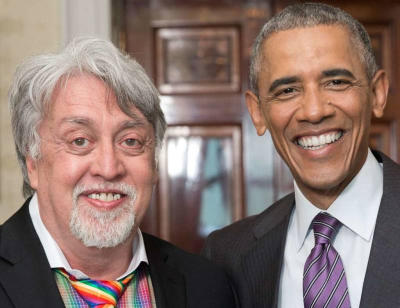 Gilbert Baker with President Barack Obama