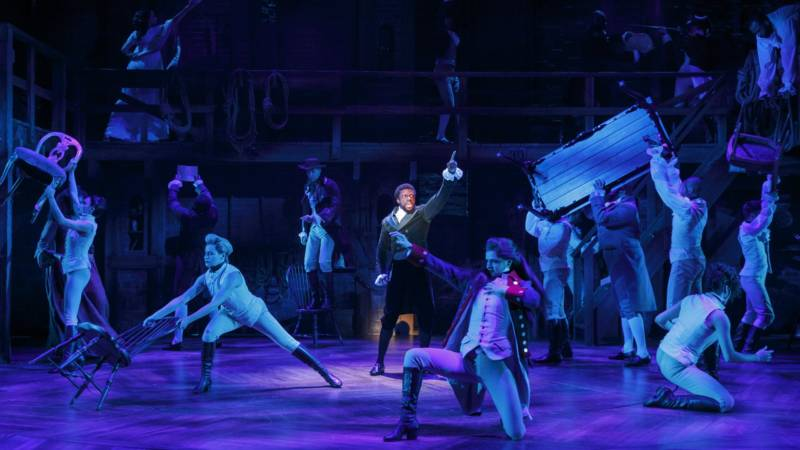 The 'Hamilton' company of the 'Hamilton' national tour, currently at SHN Orpheum Theatre in San Francisco. (Joan Marcus)