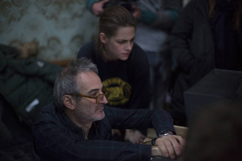 Kristen Stewart and Olivier Assayas on the set of Olivier Assayas's PERSONAL SHOPPER. Courtesy of IFC Films. An IFC Films release.