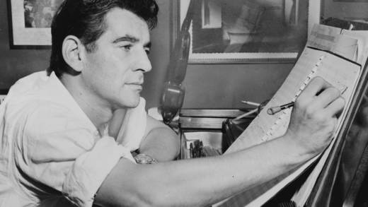 Leonard Bernstein in 1955. The famed conductor and composer is the subject of tributes during the San Francisco Symphony's new season.