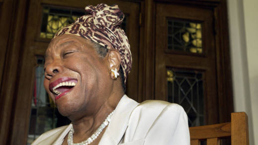 Maya Angelou laughs at the Abyssian Development Corporation's tenth annual Harlem Renaissance Day of Commitment back in 2004