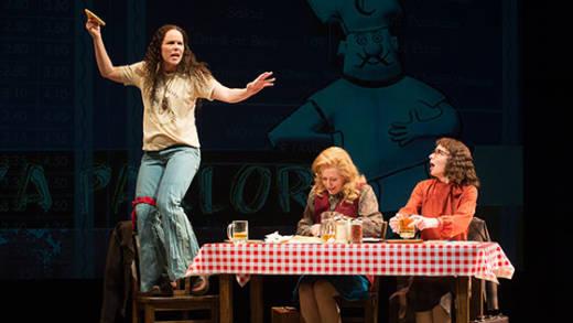The cast of 'Roe' at Berkeley Repertory Theater (L–R): Sara Bruner (Norma McCorvey), Sarah Jane Agnew (Sarah Weddington), and Susan Lynskey (Linda Coffee).