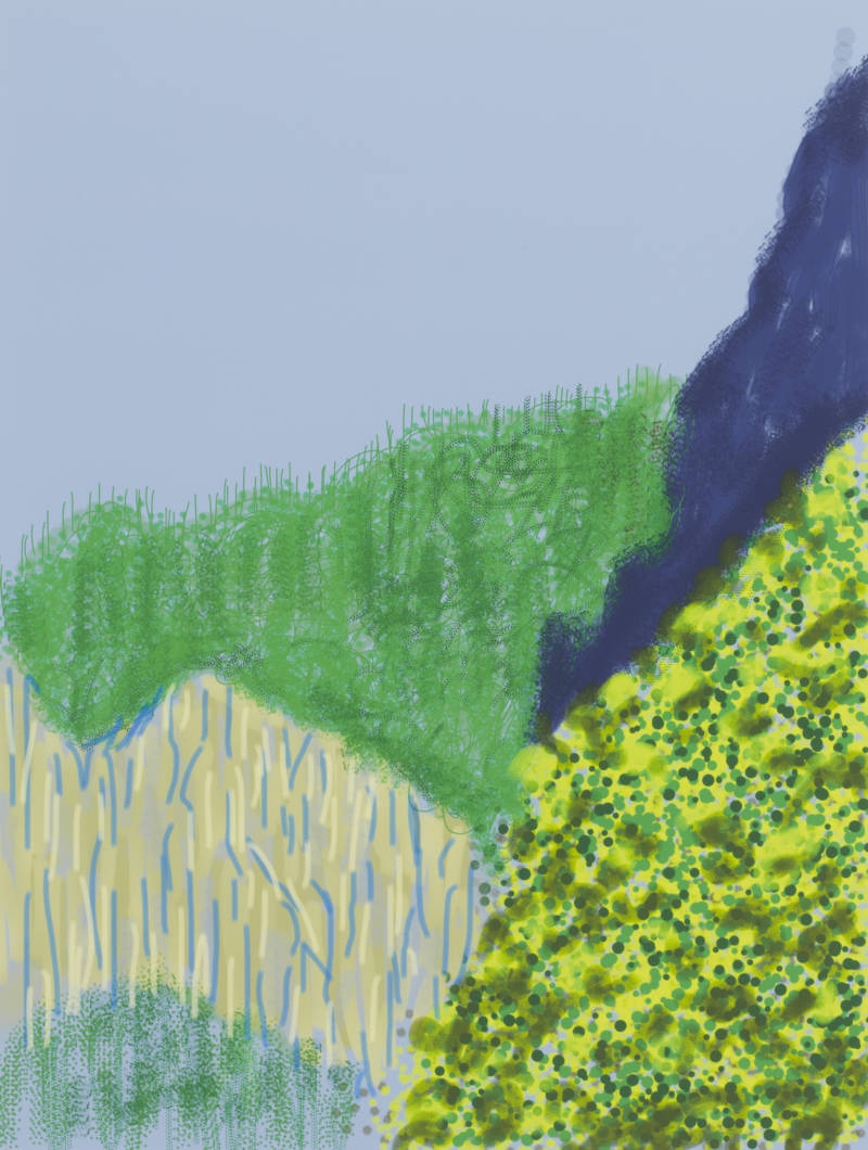 """Untitled No. 3"" from The Yosemite Suite, 2010, by David Hockney."