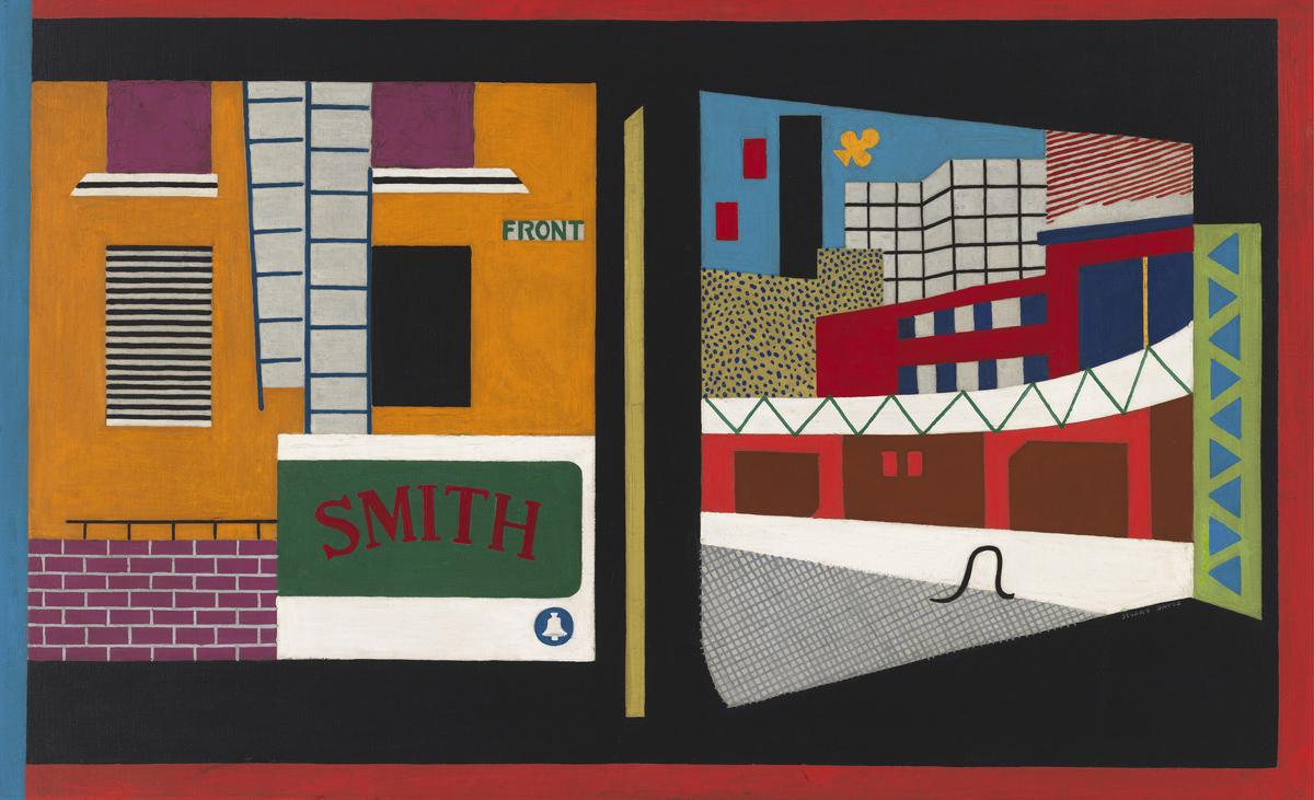 Stuart Davis, 'House and Street, 1931.