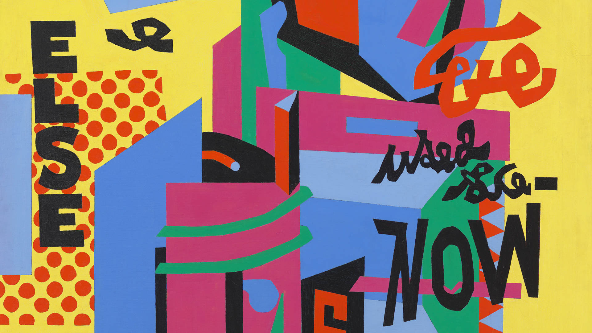 Stuart Davis, 'Owh! in Sao Pão' (detail), 1951. Courtesy of the Fine Arts Museums of San Francisco