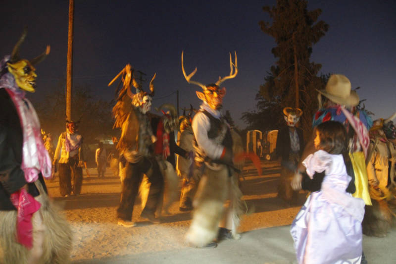 Indigenous Mixtec Oaxacan immigrants in the San Joaquin Valley perform the Danza de los Diablos (Dance of the Devils). ACTA supported an apprenticeship in mask making with master artist Luis Ortiz and his apprentice Panuncio Gutiérrez.