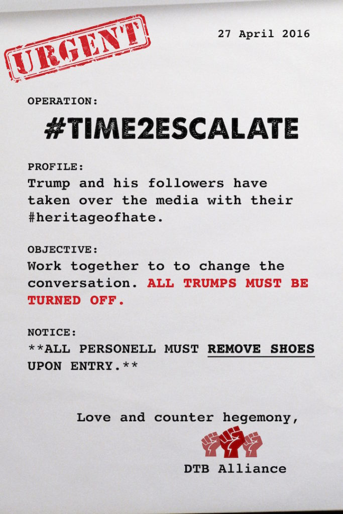 Instructions for #Time2Escalate