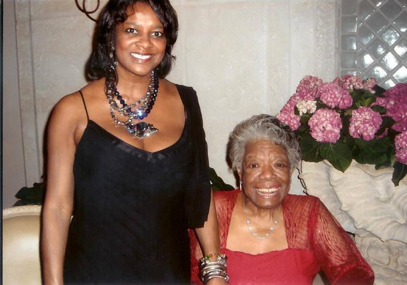 Dr. Vicki Hughes and Maya Angelou