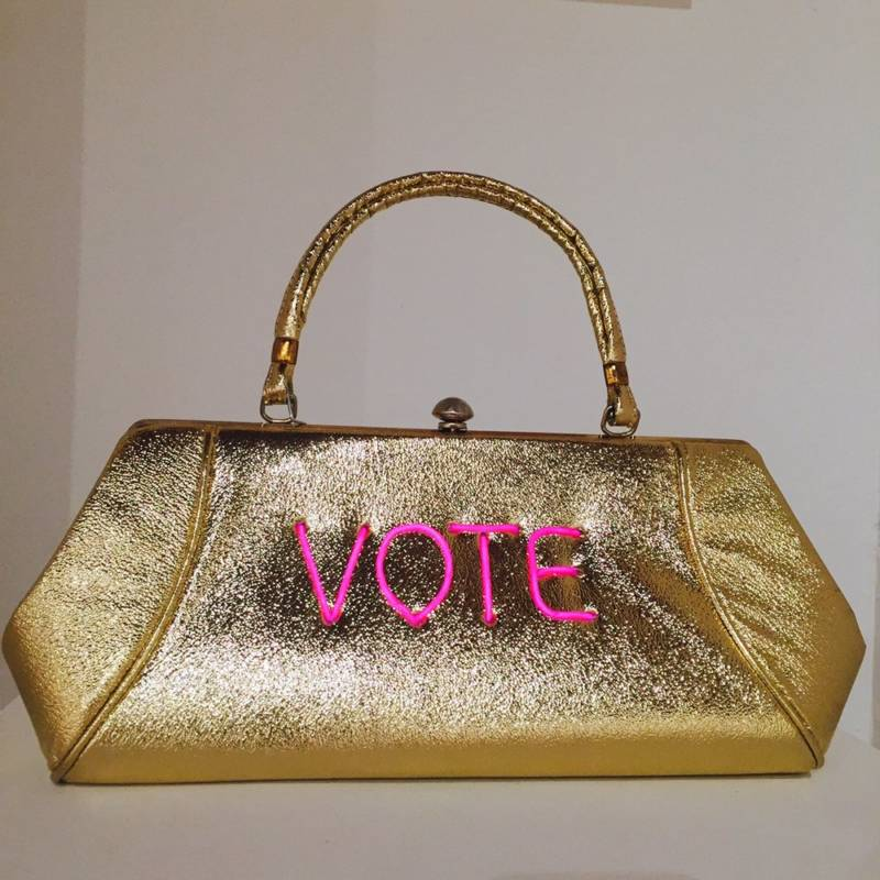 "One of Pred's ""vote"" bags"
