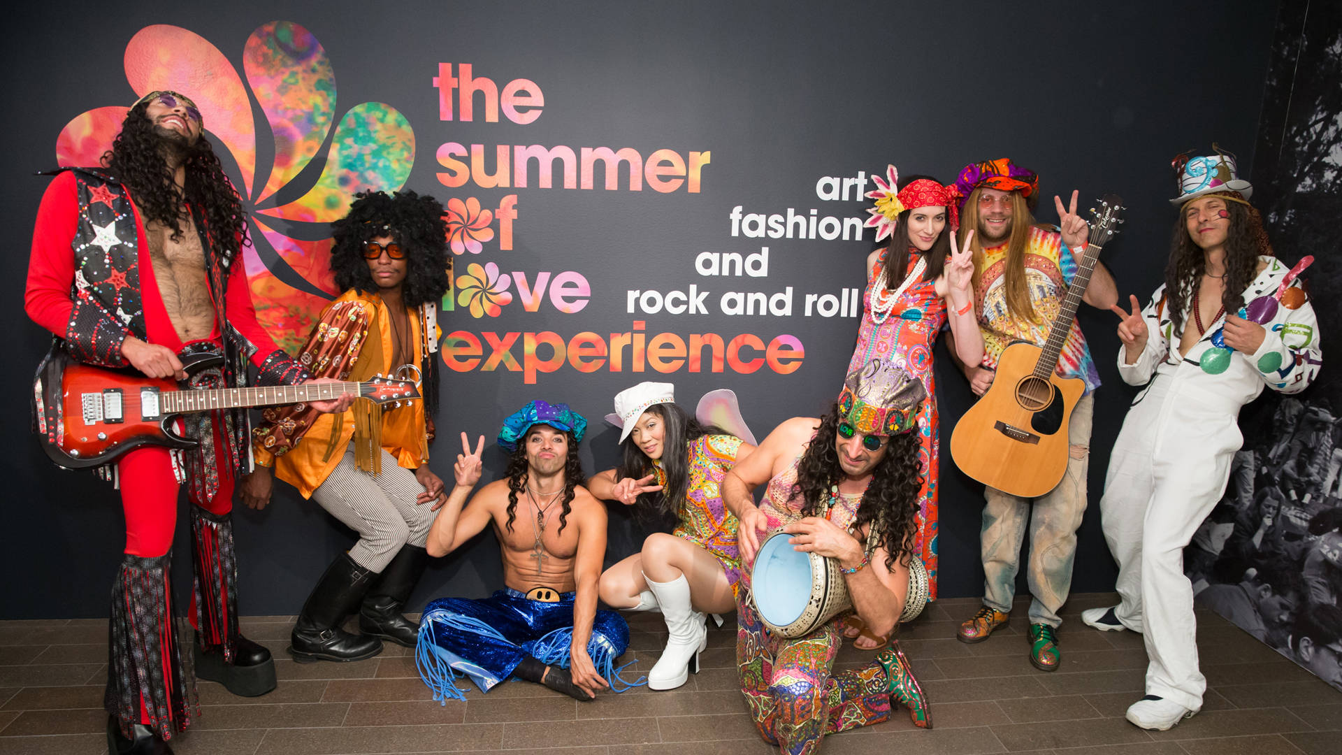 Performers at 'The Summer of Love Experience' donor reception at de Young Museum. Devlin Shand for Drew Altizer Photography