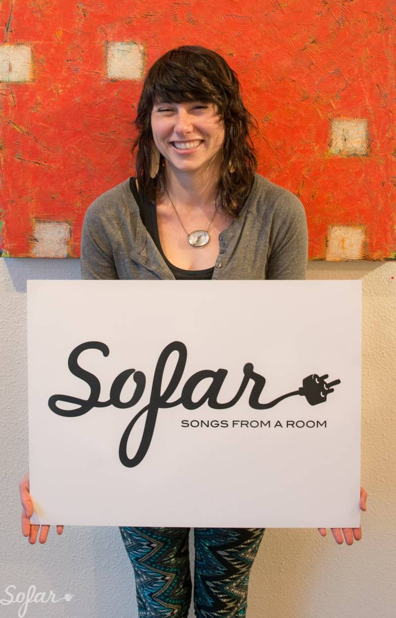Lia Rose at a Sofar Sounds show in San Francisco.