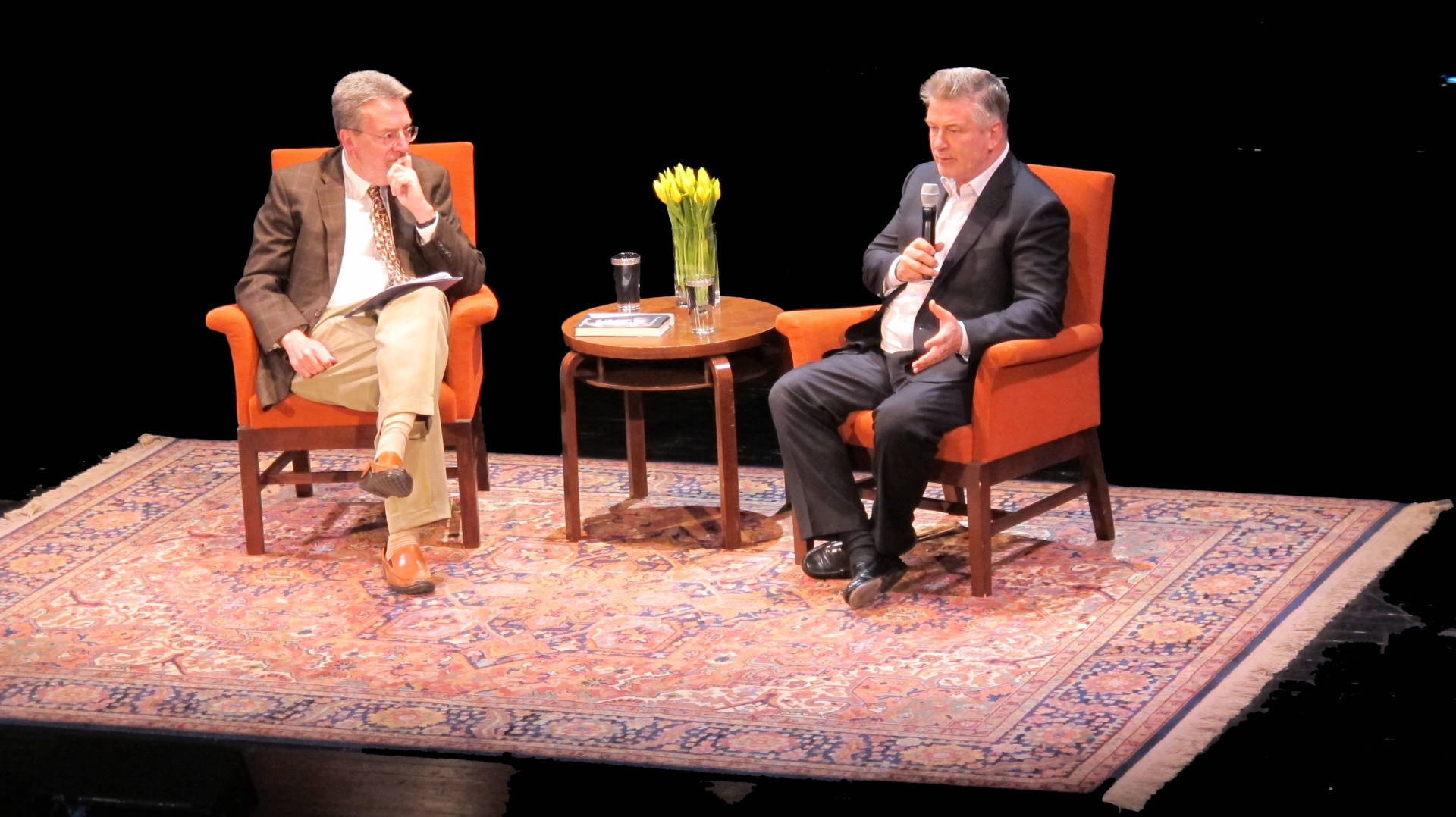Alec Baldwin in conversation with Steven Winn at San Francisco's Nourse Theater on April 13, 2017.