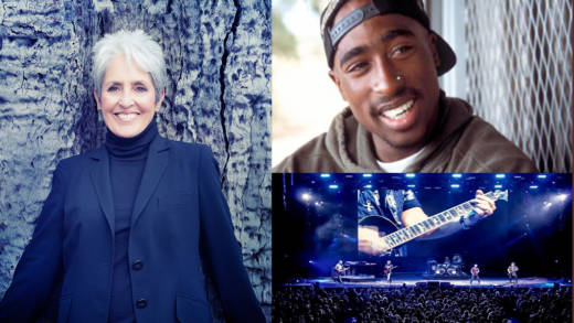 Rock and Roll Hall Of Fame Inductees for 2017 from the Bay Area: Joan Baez, Tupac Shakur, and Journey
