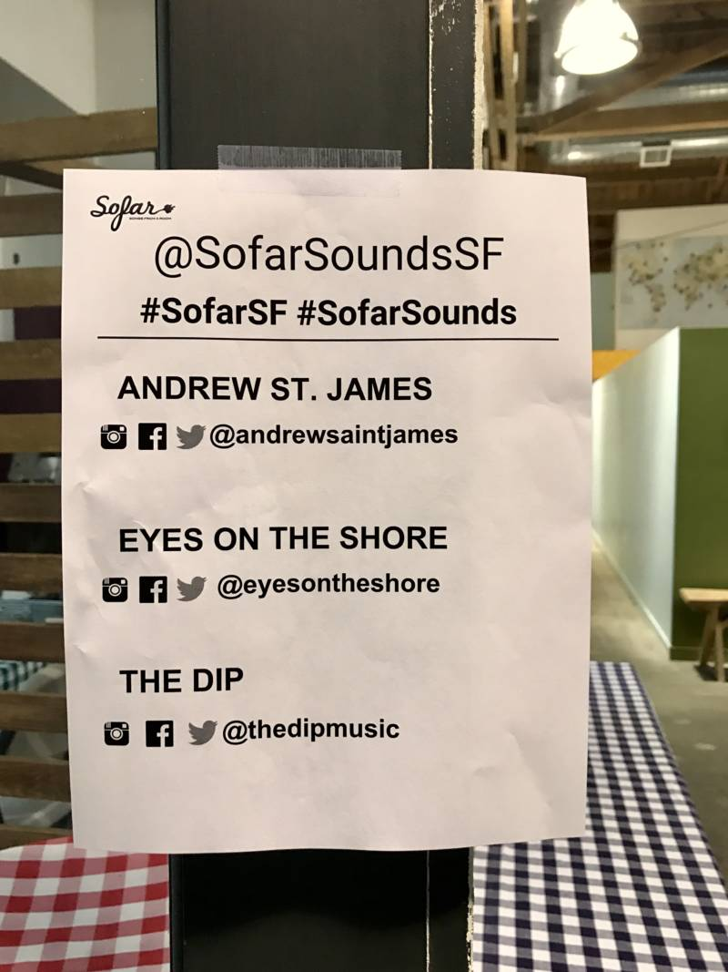 No texting or talking during a Sofar Sounds show -- but social media posting is highly encouraged.