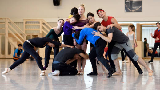 Members of San Francisco Ballet rehearse Myles Thatcher's 'Ghost In The Machine.'