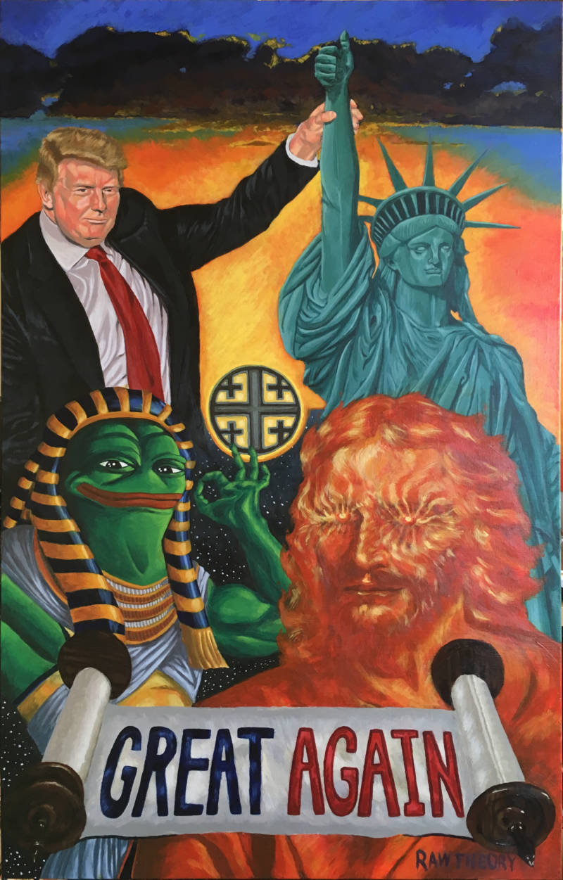 Jon Proby's painting titled 'Great Again.'