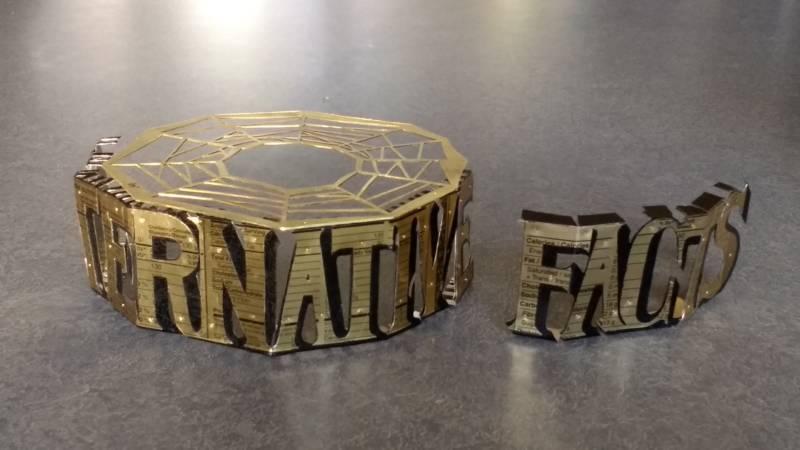 "The ""Alternative Facts"" bracelet in progress."
