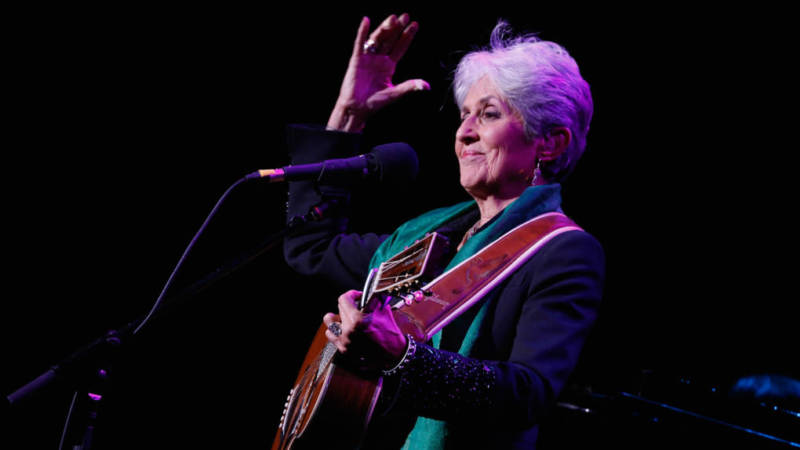 Joan Baez performs onstage at the ASCAP Centennial Awards in 2014.