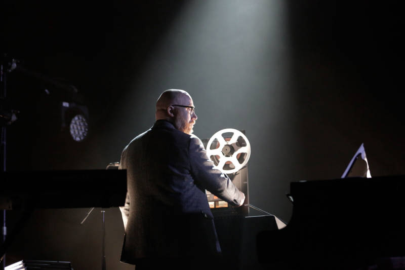 Jóhan Jóhannsson performs at the Regency Ballroom in San Francisco, April 18, 2017.