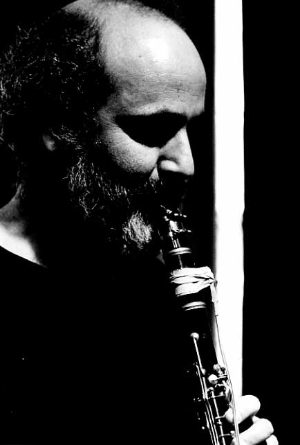 Subotnick with clarinet performing 'Passages of the Beast' at The Kitchen in 1979.