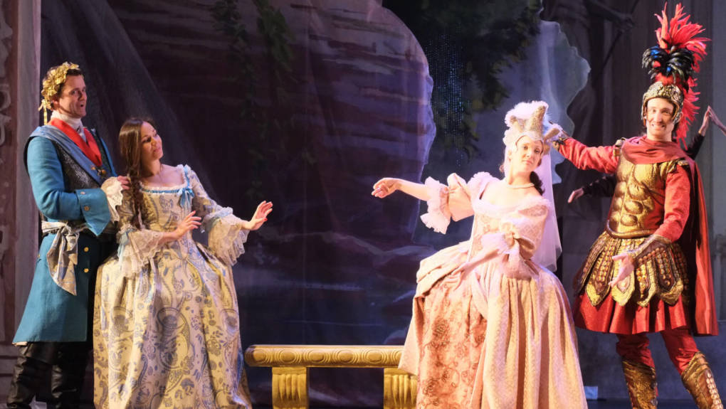 A scene from 'The Temple of Glory,' an 18th century French opera that carries a strong political message for U.S. audiences today. The work is being revived by the Philharmonia Baroque Orchestra and Cal Performances at the end of the month.