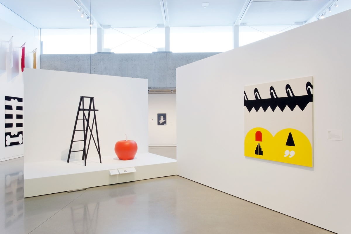 Installation view of 'Over the Top: Math Bass and the Imperial Court SF.'