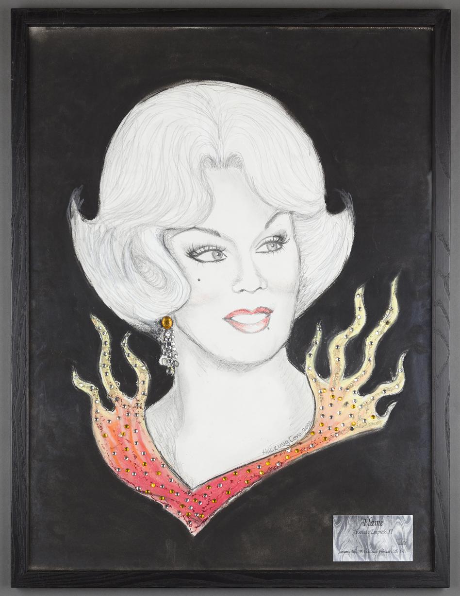 Steve Harrington, Untitled portrait of Flame, Absolute Empress XI, 2002.