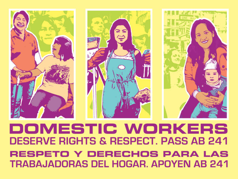 """Domestic Workers,"" a poster by Melanie Cervantes."