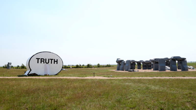 The Truth Booth outside Carhenge, in Alliance, Nebraska.