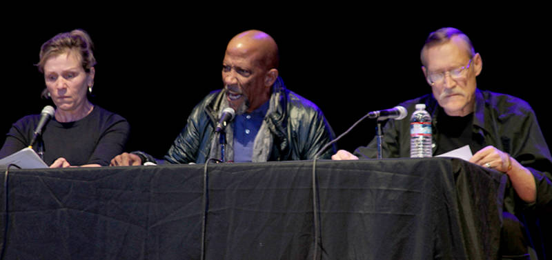 Left to right: Frances McDormand, Reg E. Cathey, James Carpenter. (Photo: Fred Landers)