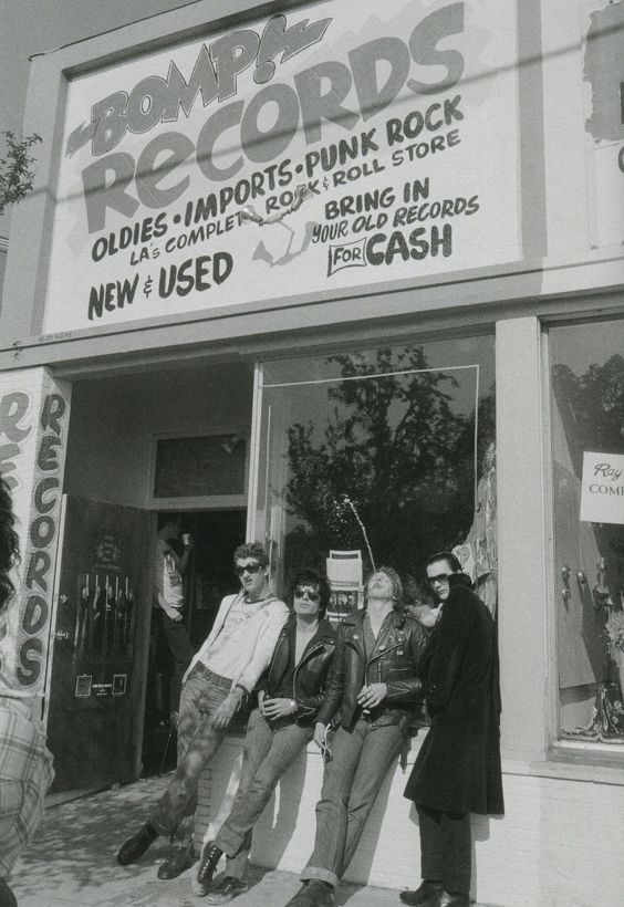 The Damned outside Bomp Records