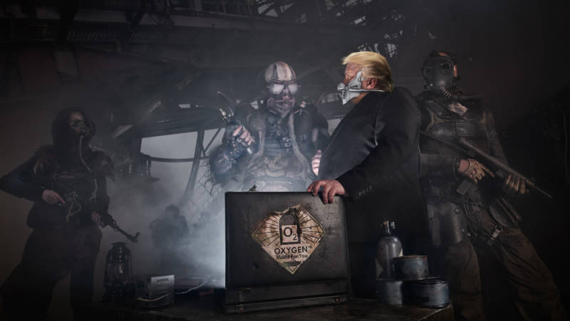 A scene from 'Mad Max Meets Trump's America'
