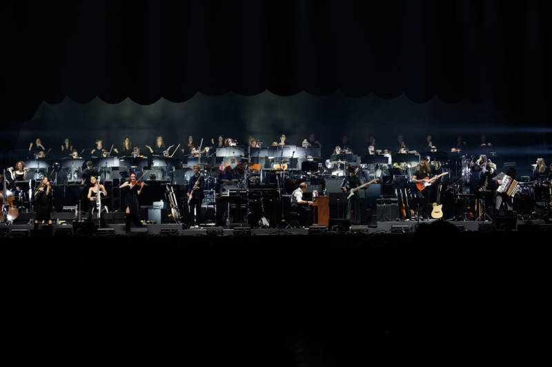 Hans Zimmer performs at the Bill Graham Civic Auditorium in San Francisco, April 19, 2017.