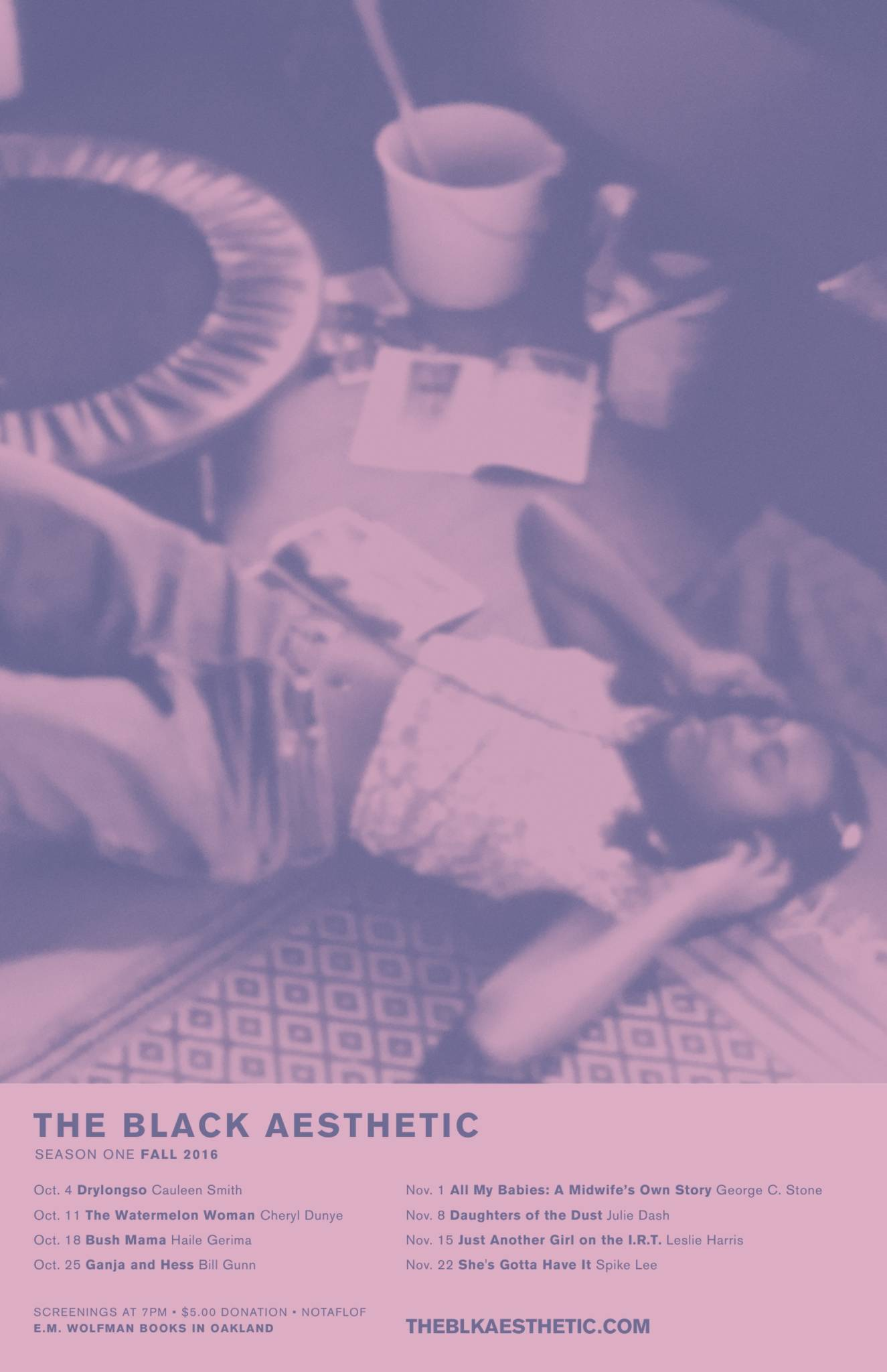Poster from the first season of The Black Aesthetic film series.