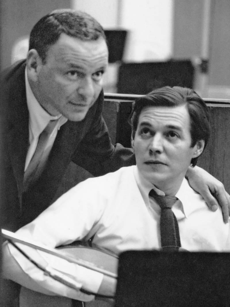 Frank Sinatra with Antonio Carlos Jobim in 1967