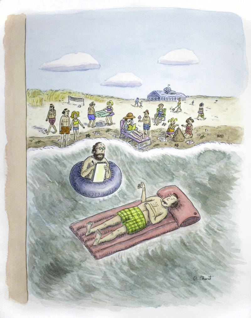 'Summer Psychology Session' by Roz Chast appeared on the cover of the New Yorker on Aug. 7, 2006.