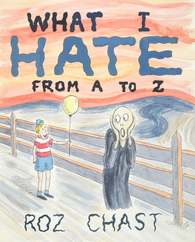 This is the cover illustration for a 2011 book by Roz Chast: 'What I Hate from A to Z'