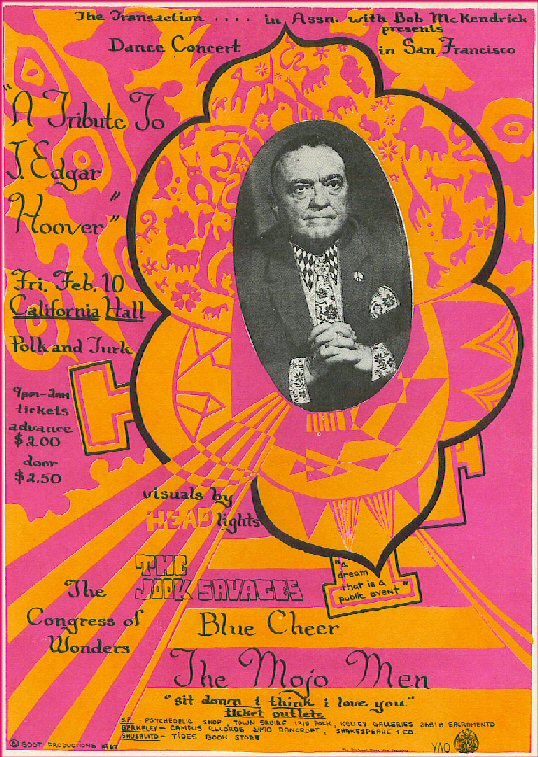 """Flyer from """"A Tribute to J. Edgar Hoover"""""""