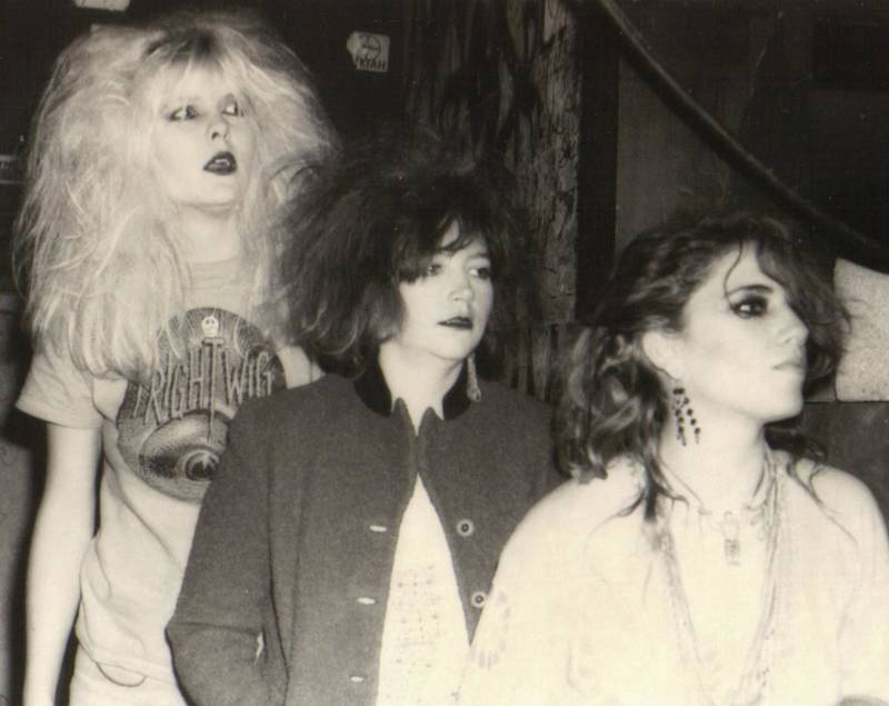 Cecilia Kuhn, Deanna Mitchell and Mia Simmans of Frightwig, back in the '80s
