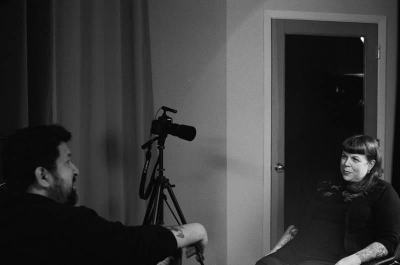 Director Corbett Redford interview Adrienne Melanie Stone of Spitboy for 'Turn It Around.'