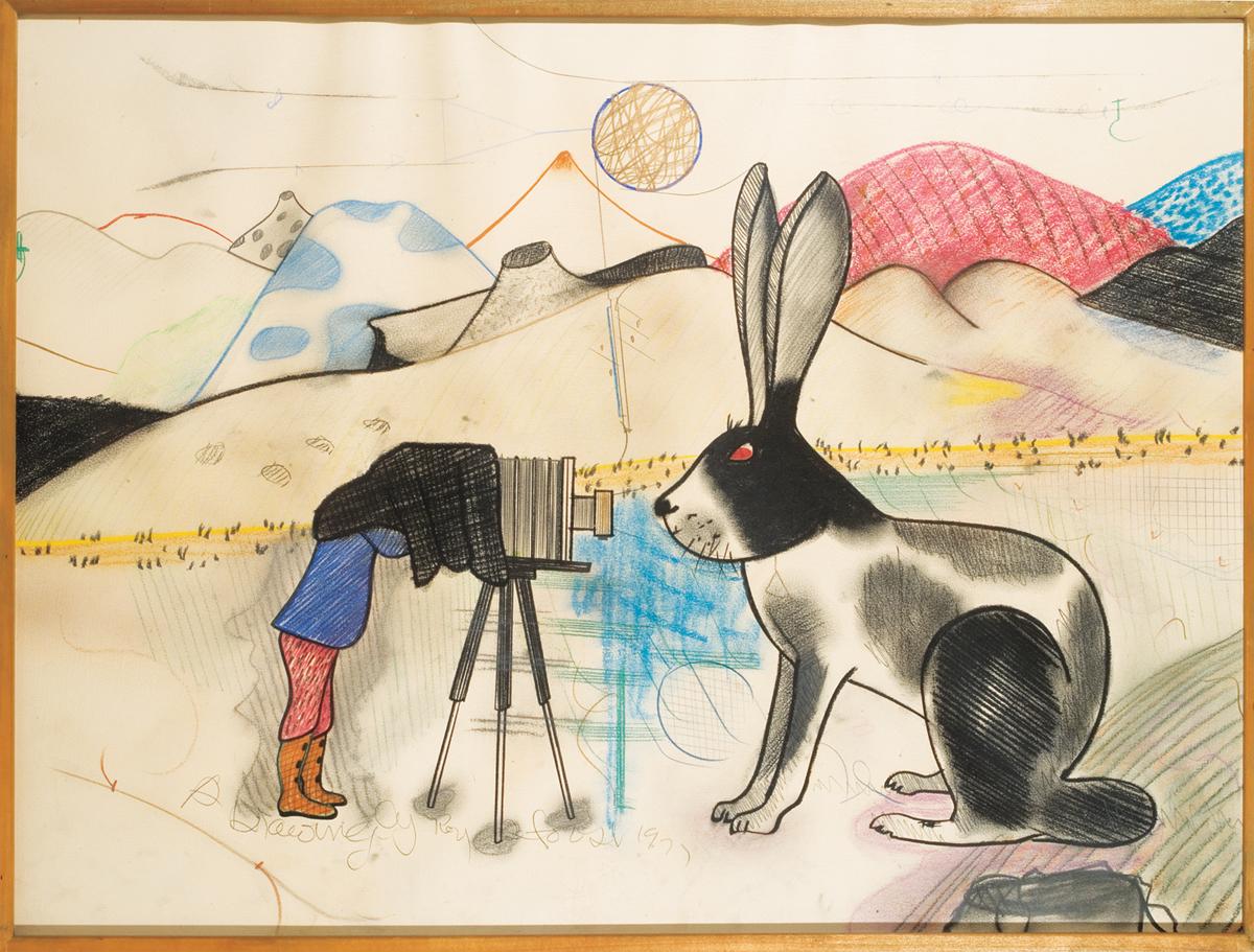 Roy De Forest, 'Untitled (rabbit),' 1977.