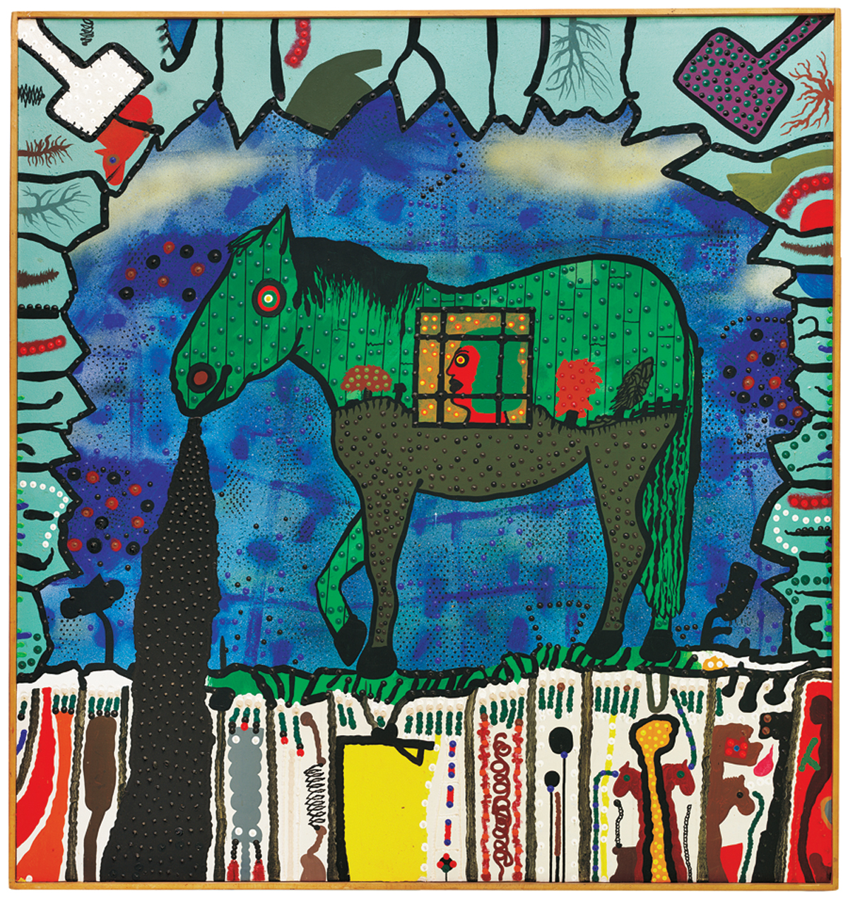 Roy De Forest, 'The Green Pony,' 1971.