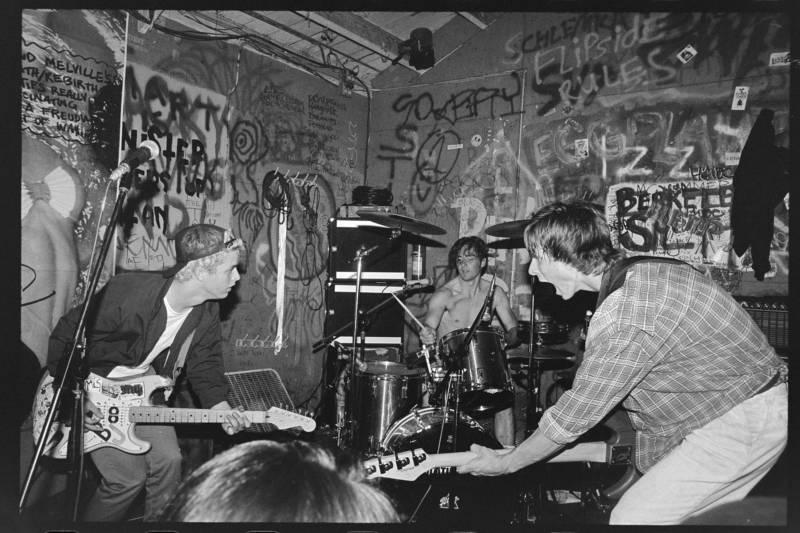 Green Day with first drummer John Kiffmeyer at Gilman, circa 1990.