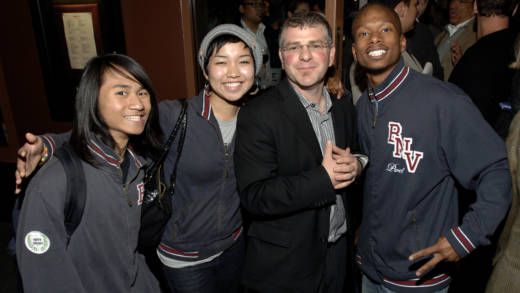 James Kass (3rd from Left) and Youth Speaks Poets attend the Private Reception for the Premiere of HBO's Brave New Voices & Youth Speaks back in 2009 in San Francisco.
