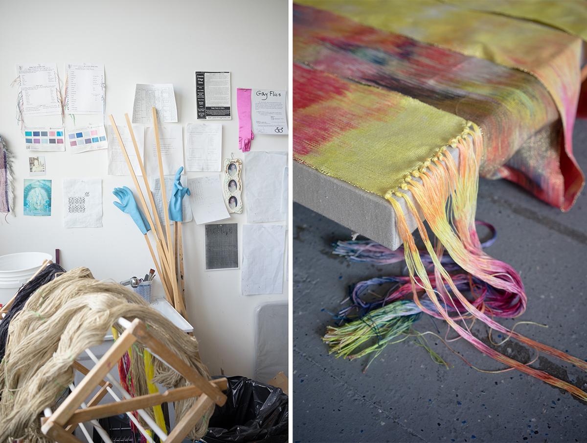 Scenes in Faught's studio.