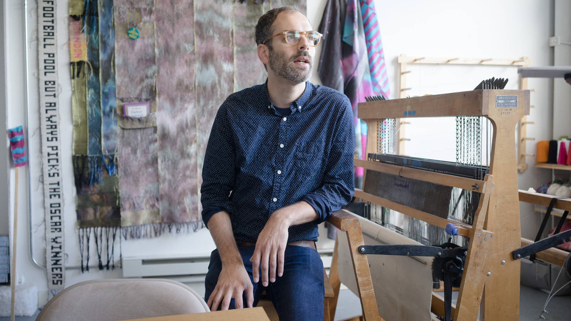 Josh Faught in his South San Francisco studio. Photo by Graham Holoch/KQED