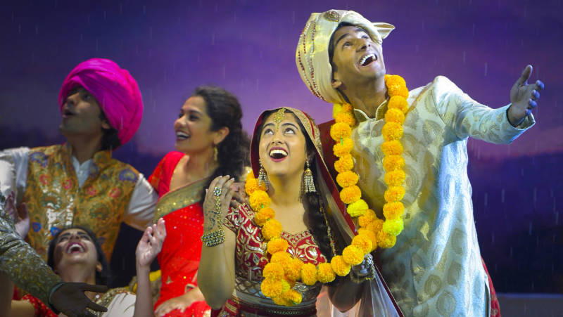 It's a long haul to the ideal life for Aditi (Kuhoo Verma) and Hemant (Michael Maliakel) in Mira Nair's musical theater adaption of her hit movie, 'Monsoon Wedding' at the Berkeley Rep.