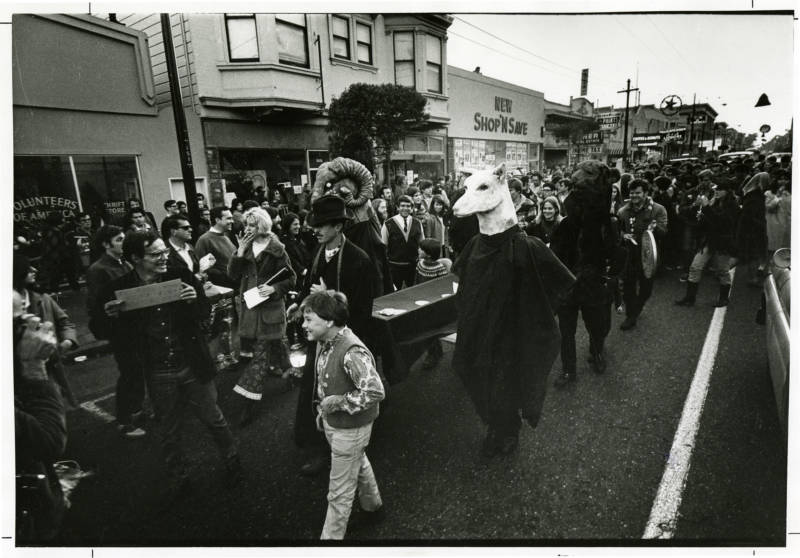 Death of Money Parade, Haight Street, 1967.