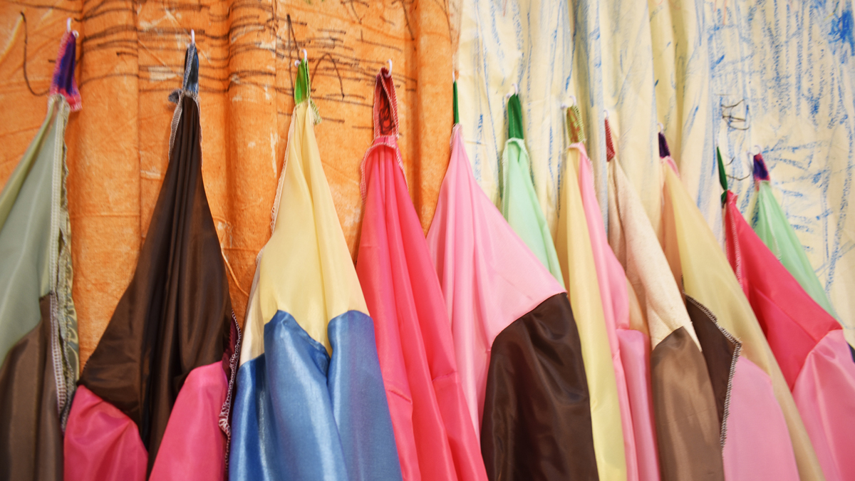 Rachel Cardenas Stallings, 'Somatic Awareness Coats and Curtain,' 2017.